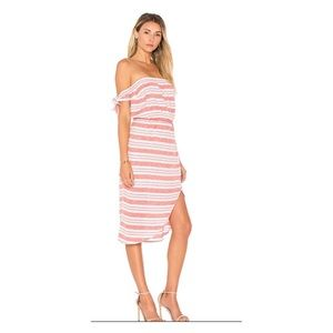 Lovers + Friends Mara Strapless Striped Dress Med